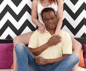 Young female Evelina Darling getting fucked by older black man