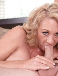 Older blonde Cali Houston having big boobs loosed before hardcore fucking