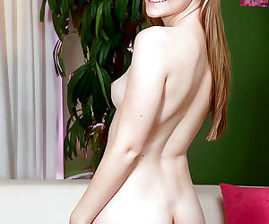 Young cutie Cassidy Ryan revealing small tits and ass before masturbating