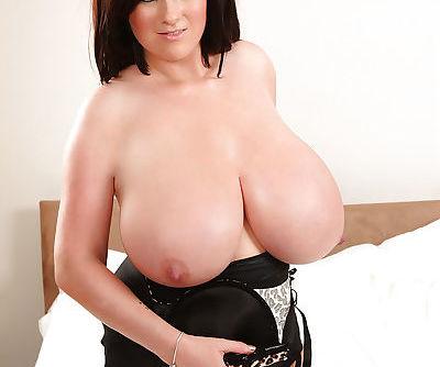 Pretty hot brunette September Carrino is demonstrating big tits