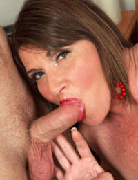 Horny older woman Josette Lynn seduces a young boy for oral sex