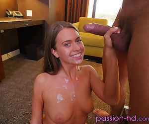 Young beauty Jill Kassidy sucks a cock until iizz ends up on her pretty face