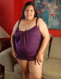 Fatty brunette Vanesa is licking her amazing hard nipples on cam
