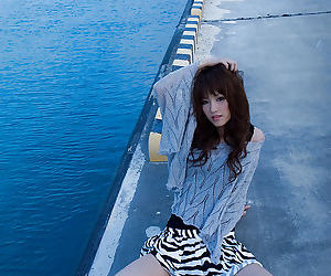 Tempting asian infant Mari Misaki vandalization stay away from her garments outdoor