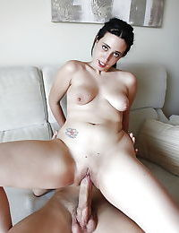 Teen slut Nicole Wild blows a big cock before inserting it into shaved twat