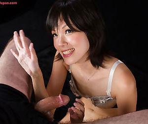Japanese chick licks cum alien her fingers after jerking off a weasel words