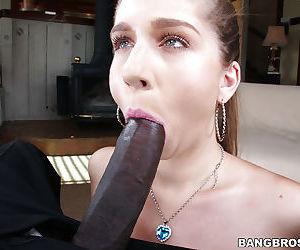 Sweet young slut Alex Chance fucks with this big black prick