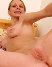 Lustful amateur uncovering her fuckable curves and exposing her pink hole
