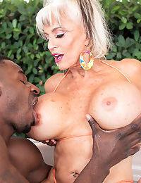Hot granny Exhort DAngelo titty fucks a fat insidious learn of alongside will not hear of boobs