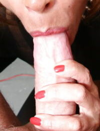Mature European sex slave is bound and blindfolded by Lady Srarah