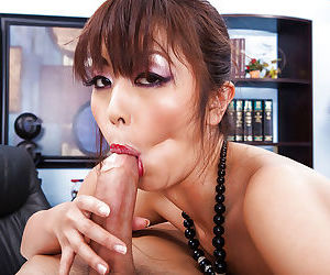 Asian office slut Marica Hase gets her pussy licked and nailed hardcore