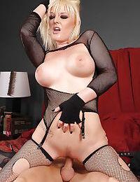 Teen blonde in stockings Tristyn Kennedy sucks and fucks a big cock