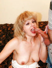 Amazing blowjob done by a big tits mature chick Crystal Alexis