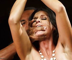 Naked lady India Summer finds herself 1 on 1 with a black man afore onlookers