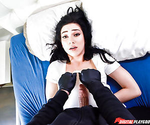 Young brunette Aria Alexander forced to suck and fuck cock by masked man