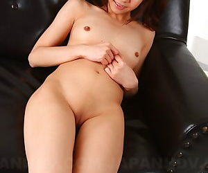 Cute Asian dame Hikaru Aoyama pulls down cotton smalls of minimal nuisance upskit