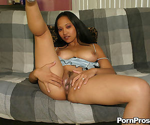 MILF with superb assets Loni presents her Asian nudes in solo scenes