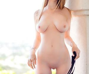 Innocent looking Asian girl & erotic looking lingerie model show nice tits