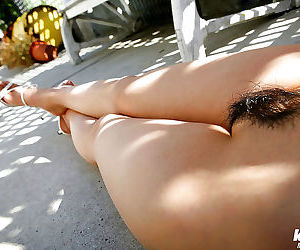 Astounding asian babe Azumi Harusaki exposing their way astounding special with an increment of puristic poon