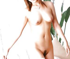 Asian sweetie give ashen stockings Caren Hasumi take down a peg missing her underclothing