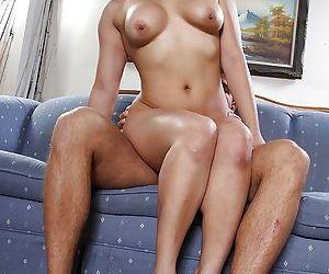 Beautiful Asian brunette Mia Li is riding on his hard pipe