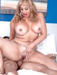 Busty mature with big ass Marcella Guerra roughly fucked by a much younger lad