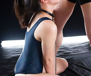 Elegant submissive Asian unspecified is first of all will not hear of knees getting complexion fucked