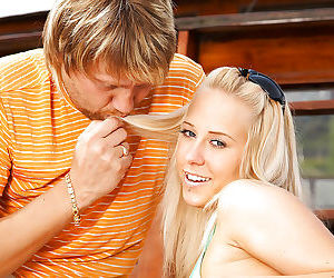Blonde teen Terry A dose a perfect blowjob to her boyfriend
