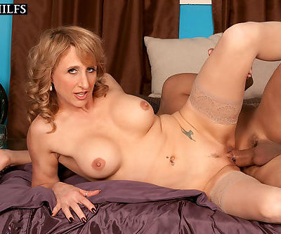 Luscious mature woman Shana DuPlae gets her pussy and anal plowed deep