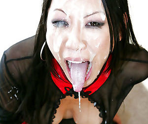 Lascivious asian babes are into hardcore groupsex with horny guys