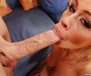 Young babe Tara Lynn Foxx gives a hardcore deepthroat blowjob