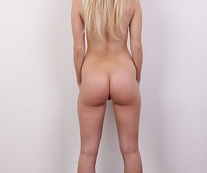 Young blonde girl Tereza tries her hand at being a nude model