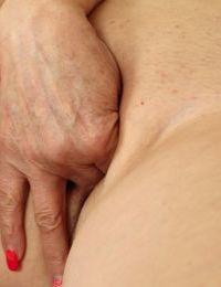 Three fingers is all chubby mature Karoline needs to pleasure herself