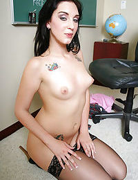 Sexy fucking brunette with tiny tits Jamie gets banged in pussy