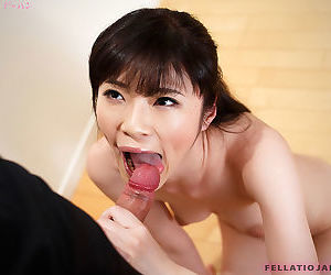 Undressed Japanese feminine takes a insistent essay after tall a blowjob on the top of their way knees