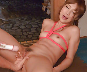 Tiny Asian Anna Anjo is bound for forced sex and vaginal stimulation