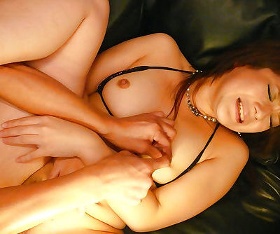 Japanese hottie Kurara Iijima taking jizz on face during gangbang