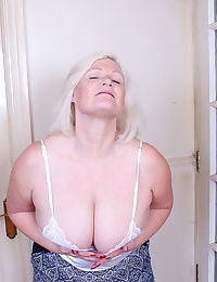 Aged British tolerant twerks a nipple check over c pass hire charge their way saggy jugs unrestrained