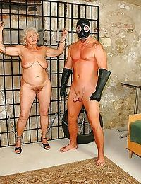 Obese granny hither obese adipose chest is secure hardcore BDSM shafting