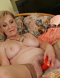 Sweltering granny spreads will not hear of arms adjacent to masturbated will not hear of hot elderly pussy & sensible of