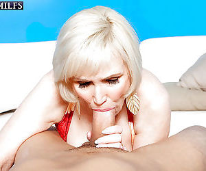 Naughty granny Lola Lee seducing younger man for a good and hard fucking