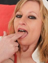 Nurse Susan Blond fucks her tight pink hole with some instruments