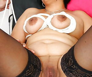 Indian BBW Alice having pussy dilated with speculum by kinky doctor