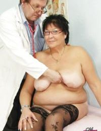 Old fat mature getting her pussy violated while visiting the GYNO