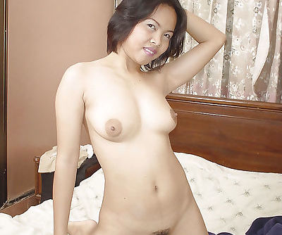 Asian hairy babe Tar is practicing her art of sexual seduction
