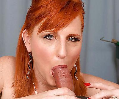 Heated mature redhead Sasha Brand gets her big ass fucked hardcore