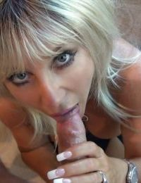 Hot housewife treats a stiff cock for a cumshot on her eager face