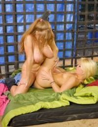 Lesbians Ash Hollywood & Darla Crane finger and grind horny pussies