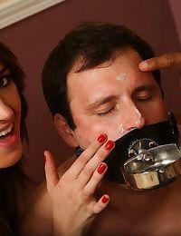 Smoking wife Alana Rains humiliates her cuckold while fucking a BBC