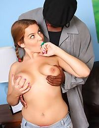 Naughty teen Natasha Nice gets a big black cock shoved into her cunt